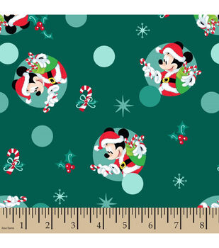 a188eb504f Disney Mickey Mouse Knit Fabric-Christmas Badges
