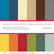 "American Crafts Smooth Cardstock Pack 12""X12"" 48/Pkg, , hi-res"