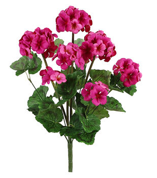 Fresh Picked Spring 20'' Geranium Bush-Fuchsia