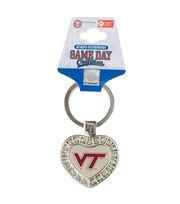 Virginia Tech Hokies Heart Keychain, , hi-res