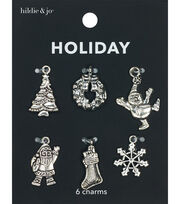 hildie & jo Holiday Charms-Antique Silver Icons, , hi-res