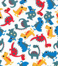 Novelty Cotton Fabric -Tossed Dinos