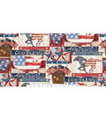 Patriotic Cotton Fabric 43\u0027\u0027-Land of The Free