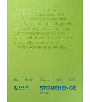 Stonehenge 15-sheet 18''x24'' 90 lbs. Paper Pad -White