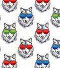 Snuggle Flannel Fabric 42\u0022-Sunglasses On Wolves