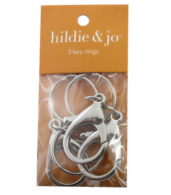 hildie & jo 3 Pack Lobster Clasps with Rings-Silver