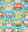 Snuggle Flannel Fabric 42\u0022-Adorable Owls