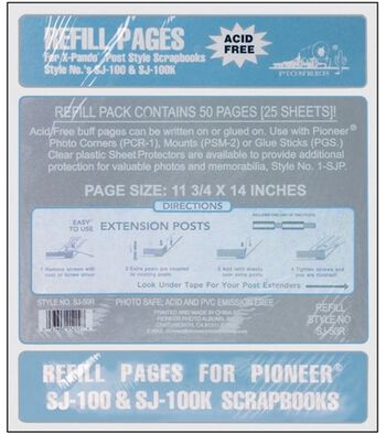 "Pioneer Post Bound Refill Sheets 11.75""x14"" 25/Pkg-Buff"