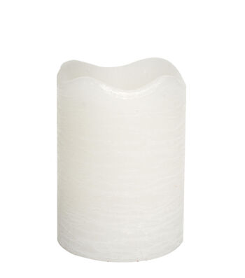 Hudson 43 Candle & Light Collection 3X4 White Rustic Pillar