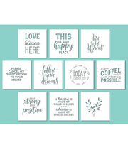 "Hampton Art 10""x10"" Card Stock Stencils-Phrases, , hi-res"