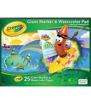 """Crayola Giant Marker&Watercolor Pad 12""""x16"""" 25Sheets, , hi-res"""