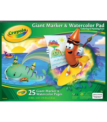 "Crayola Giant Marker&Watercolor Pad 12""x16"" 25Sheets"
