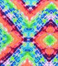 Snuggle Flannel Fabric -Bright Geometric Tie Dye