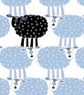 Snuggle Flannel Fabric-Sheep