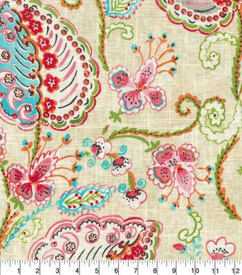 "Dena Designs Upholstery Fabric 13x13"" Swatch-Flamingo Frolic Watermelon"