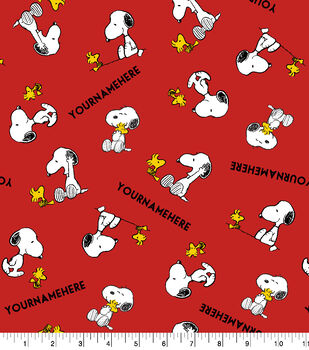 Peanuts Print Fabric by Springs Creative-Snoopy & Woodstock