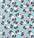 Blizzard Fleece Fabric-Panda Faces