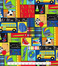 Novelty Cotton Fabric -Back to School Patch