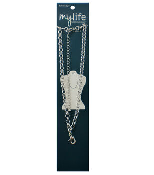 hildie & jo My Life 30'' Silver Necklace