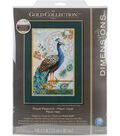 Gold Collection Royal Peacock Counted Cross Stitch Kit 14 Count
