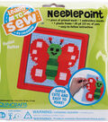 Colorbok Butterfly Learn To Sew Needlepoint Kit-6\u0022X6\u0022 Red Frame