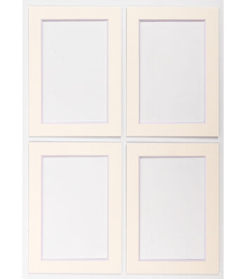 Framing Mats 5X7 4 pk-Cream