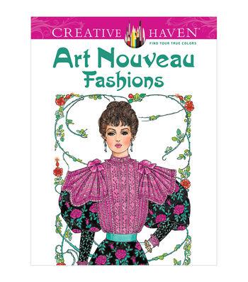 Dover Creative Haven Art Nouveau Fashions Coloring Book