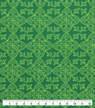 St. Patrick's Day Lucky Irish Print Fabric -Celtic Medallions