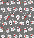 Snuggle Flannel Fabric-Winter Bear With Scarf