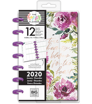 The Happy Planner Mini 2020 Dated Planner-Spring Floral
