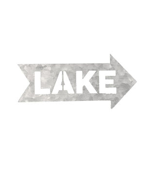 Camp Ann Crafts Galvanized Lake Arrow Sign