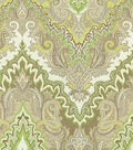 Waverly Lightweight Decor Fabric 54\u0022-Paisley Verse/Mineral