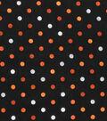 Halloween Cotton Fabric 43\u0027\u0027-Gray & Orange Haunting Dots