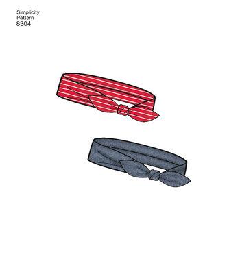 Simplicity Pattern 8304 Babies' Apparel, Headband & Bibs-Size A (XXS-L)