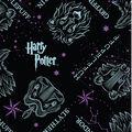 Harry Potter No Sew Fleece Throw-Marauders Map Footprints