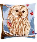 Vervaco 16\u0027\u0027x16\u0027\u0027 Cushion Counted Cross Stitch Kit-Winter Owl