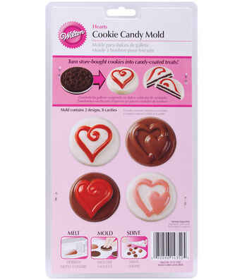 Wilton Cookie & Candy Mold-Hearts