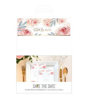 Save the Date Menu & Program Set-Floral