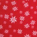 Anti-Pill Plush Fleece Fabric-Snowflakes On Red