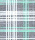 Luxe Flannel Fabric -Madison Green Heather Plaids