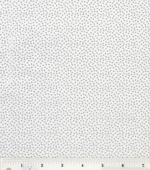 Keepsake Calico Cotton Fabric -White Metallic Dot