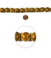 Blue Moon Strung Raku Ceramic Beads,Round,Topaz,Spatter, , hi-res