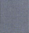 Homespun Cotton Fabric 44\u0022-Black & Blue Cross Square