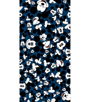 """Disney® Fleece Fabric 59""""-Many Faces of Mickey"""