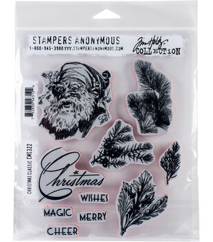 Stampers Anonymous Tim Holtz Cling Stamps-Christmas Classic