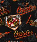Baltimore Orioles Fleece Fabric -Vintage