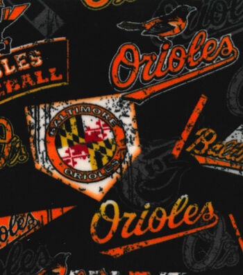 "Baltimore Orioles Fleece Fabric 58""-Vintage"