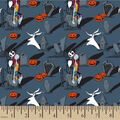 Nightmare Before Christmas Cotton Fabric-Jack And Sally Graveyard