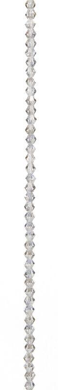 7\u0022 Bead Strands - Clear Crystal AB Bicones, 4mm