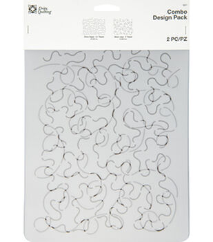 Dritz Quilting Combo Design Stencil Pack-Allover Loopy Stipple
